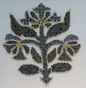 Blackwork embroidery by Chris Berry
