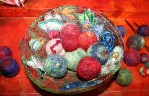 detail of Picking up Marbles with Chopsticks by Alison King in Creative Dialogues