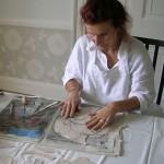 Sally working