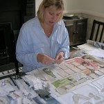 Shelley working