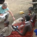 Maasai beadwork in progress