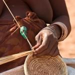 Namibia, Marienfluss Himba basket