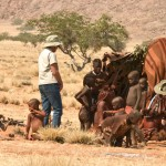 Namibia, Marienfluss Himba group