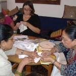 stitching kantha